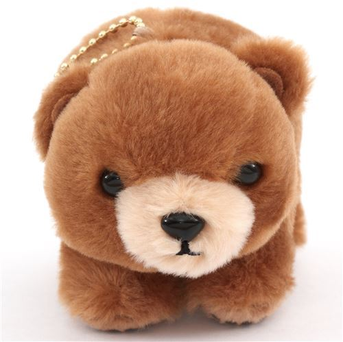 cute brown bear plush toy maru kuma pola from Japan