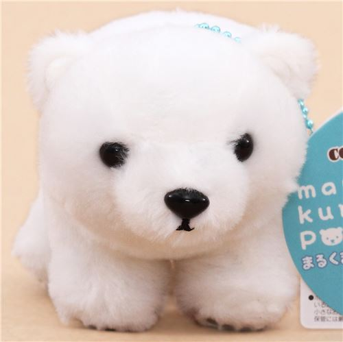 cute white bear plush toy from Japan