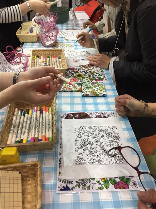 People of all ages can enjoy drawing and coloring in