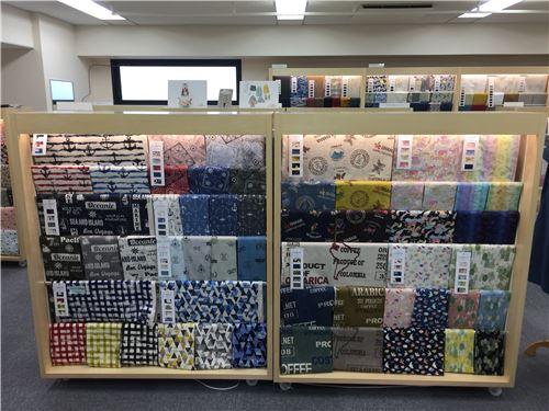 Beautiful fabrics on display