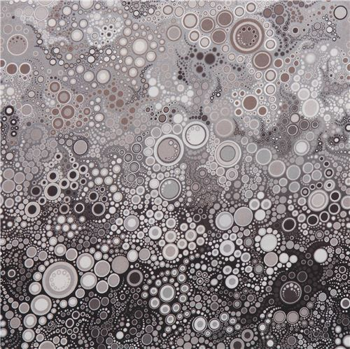 brown grey dot bubble circle fabric Robert Kaufman Effervescence Digital