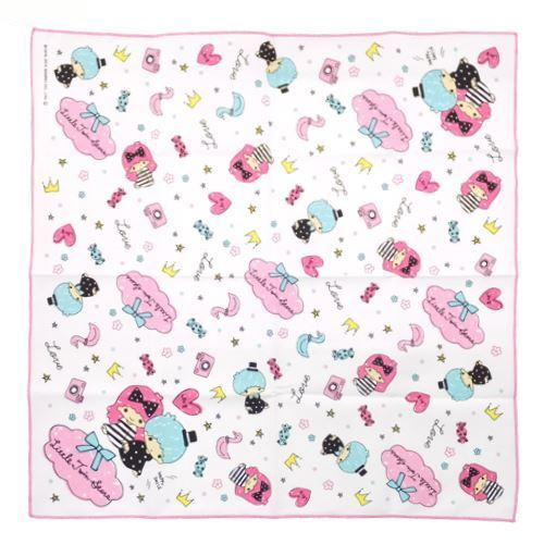 white LittleTwin Stars flower stars lunch cloth towel from Japan