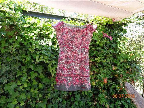 This dress was made using Robert Kaufman Effervescence fabric