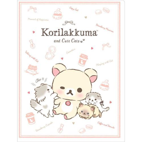 light peach Korilakkuma 10-pocket A4 and A3 file folder