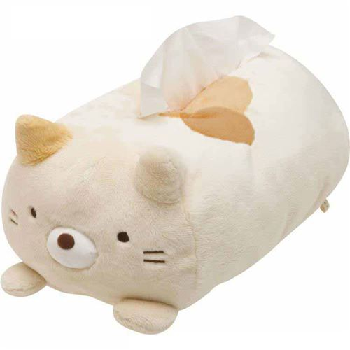 Sumikkogurashi animal shy cat plush tissue box