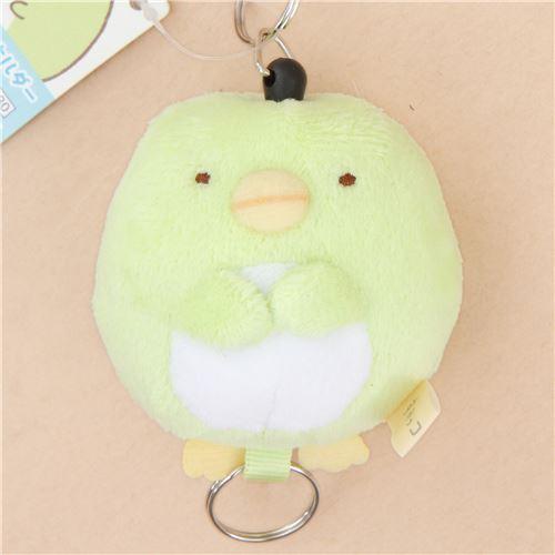 cute soft Sumikkogurashi green shy penguin plush charm by San-X