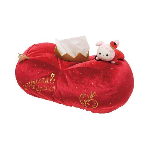 red Sentimental Circus bunny rabbit crown plush tissue box by San-X