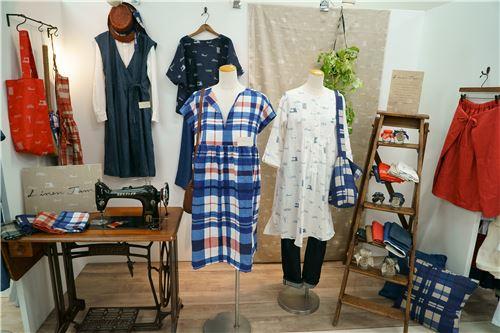 Linen Jam's fabrics as clothes
