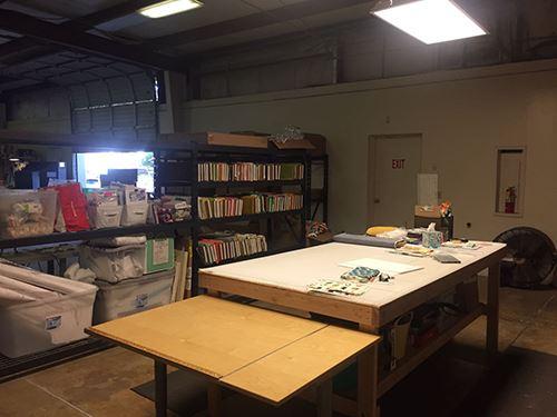 Part of their workspace