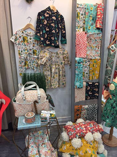 Beautiful Birch fabrics on display